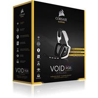 Headset Corsair VOID Wireless Dolby 7.1 RGB Gaming White هدست کورسیر VOID Wireless Dolby 7.1 RGB Gaming White