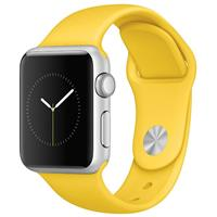 Watch - SmartBand Apple 38mm Silver Aluminium Case With Yellow Sport Band ساعت و مچ پند اپل 38mm Silver Aluminium Case With Yellow Sport Band